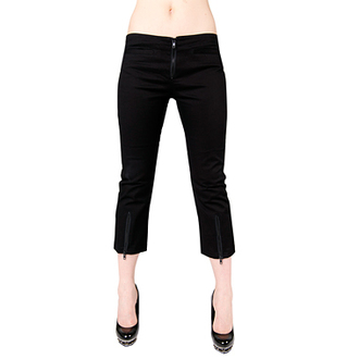 shorts 3/4 women Black Pistol - Zipper Slacks Denim Black, BLACK PISTOL