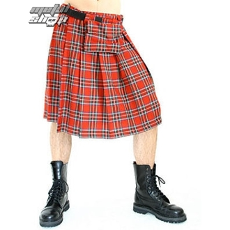 kilt men's Black Pistol - Short Kilt Tartan Red, BLACK PISTOL
