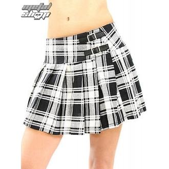 skirt women's Black Pistol - Buckle Mini Tatran - Black-White, BLACK PISTOL