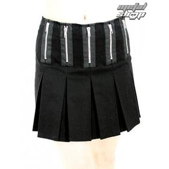 skirt women's Black Pistol - Zipper Mini Denim (Black), BLACK PISTOL
