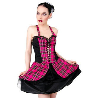 dress women Black Pistol - Punk Mini Dress Tartan Pink, BLACK PISTOL