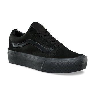 low sneakers women's - UA OLD SKOOL PLATFOR Black/Black - VANS
