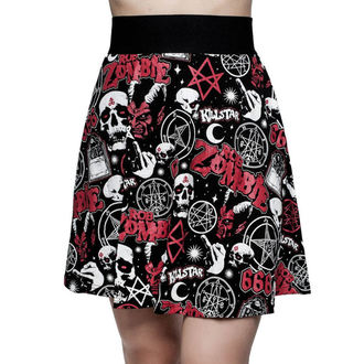 Women's skirt KILLSTAR - ROB ZOMBIE - Baby Death Skater - BLACK - KSRA000730