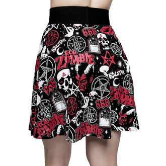 Women's skirt KILLSTAR - ROB ZOMBIE - Baby Death Skater - BLACK, KILLSTAR, Rob Zombie