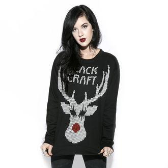 sweatshirt (no hood) men's - Black Metal Rudolph - BLACK CRAFT