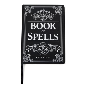 Writing Notepad KILLSTAR - Book of Spells -l Black, KILLSTAR