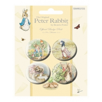 badges - Beatrix Potter - BP80167, PYRAMID POSTERS