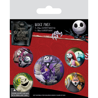 Pin badges Nightmare Before Christmas - (&&string0&&) - PYRAMID POSTERS, PYRAMID POSTERS