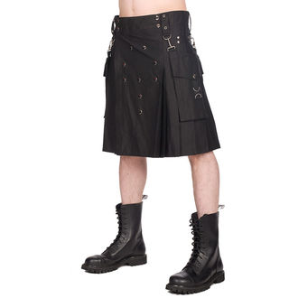 Men's kilt BLACK PISTOL - Denim - Black - B-2-12-001-00