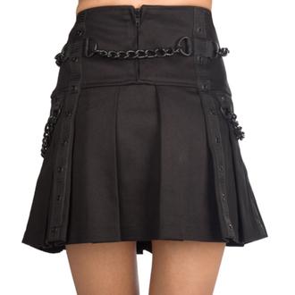Women's skirt Black Pistol - Chain Denim - Black, BLACK PISTOL
