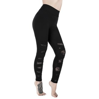 Leggings Women's KILLSTAR - CASKET KICKER - BLACK, KILLSTAR