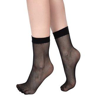 Women's socks KILLSTAR - COURTNEY FISHNET - BLACK, KILLSTAR