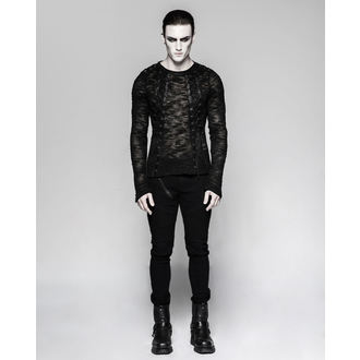 Men's sweater (long sleeve tee) PUNK RAVE - Faust - T-474 BK