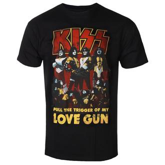t-shirt metal men's Kiss - Love Gun - ROCK OFF - KISSTS10MB