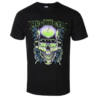 t-shirt metal men's Megadeth - 35 YEARS H/PHONES SKULL - PLASTIC HEAD - RTMGS049
