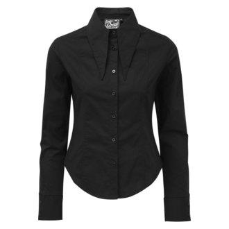 Women's shirt KILLSTAR - Darby Pointed Collar - BLACK, KILLSTAR