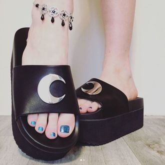 flip-flops women's - DARK MOON SLIDES - KILLSTAR