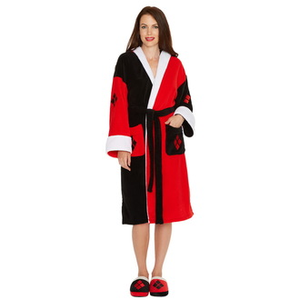 Bathrobe Suicide Squad - Harley Quinn - Black and Red