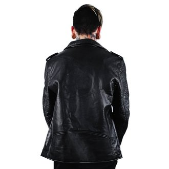 leather jacket men's - Death Rawk - KILLSTAR, KILLSTAR