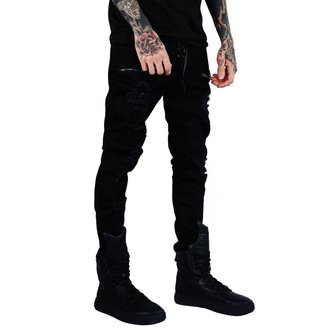 Trousers (unisex) KILLSTAR - Diablo Jeans - BLACK, KILLSTAR