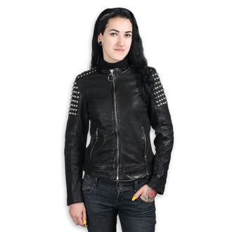 leather jacket women's AC-DC - BLACK - NNM, NNM, AC-DC