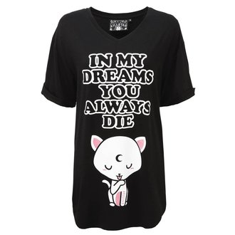 Pajama T-shirt KILLSTAR - DREAMS - BLACK, KILLSTAR