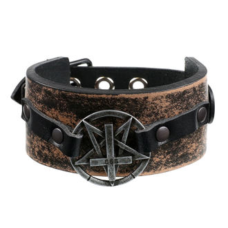 Bracelet Pentagram Cross - brown