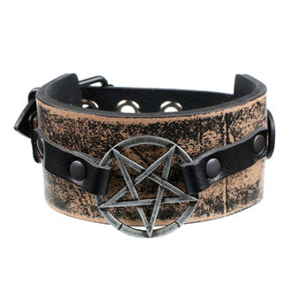 Bracelet Pentagram - brown, JM LEATHER