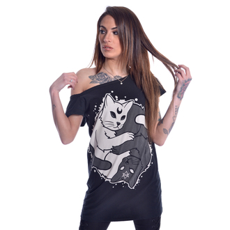 t-shirt women's - YING YANG KITTY OFF SHOULDER - HEARTLESS, HEARTLESS