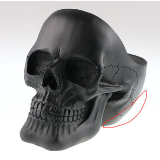 Decoration Skull - Black - 78/5971 - DAMAGED