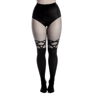 tights PAMELA MANN - Opaque Tights With Sheer Stripe - Black