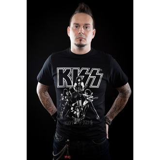 t-shirt metal men's Kiss - Hottest Show On Earth - HYBRIS, HYBRIS, Kiss