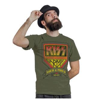 t-shirt metal men's Kiss - ARMY Distressed Logo - HYBRIS, HYBRIS, Kiss