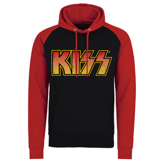 hoodie men's Kiss - Distressed Logotype - HYBRIS, HYBRIS, Kiss