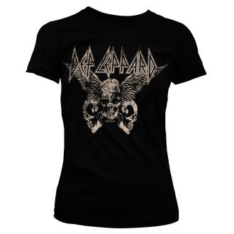 t-shirt metal women's Def Leppard - Flying Skulls - HYBRIS, HYBRIS, Def Leppard