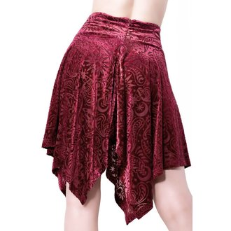 Women's skirt KILLSTAR - Etta Skater - WINE, KILLSTAR