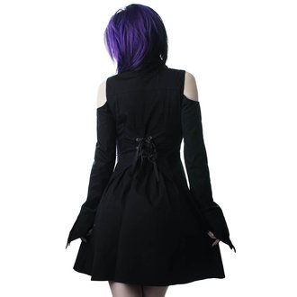 Women's shirt dress KILLSTAR - Exorcista - BLACK, KILLSTAR