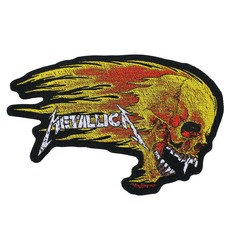 patch METALLICA - FLAMING SKULL CUT OUT - RAZAMATAZ, RAZAMATAZ, Metallica