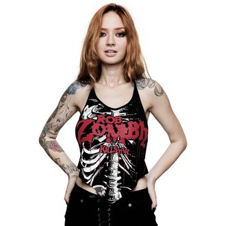 Women's tank top KILLSTAR - ROB ZOMBIE - Foxy Bones Rocker - BLACK, KILLSTAR, Rob Zombie