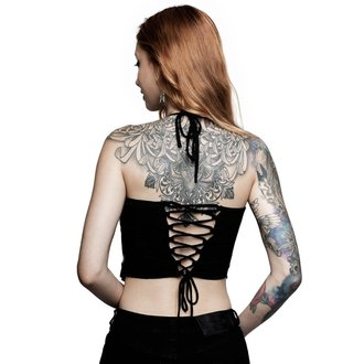 Women's tank top KILLSTAR - ROB ZOMBIE - Foxy Bones Rocker - BLACK, KILLSTAR, Rob Zombie