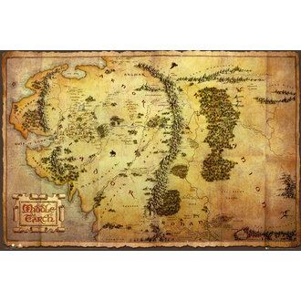 poster The Hobbit - Map - GB Posters, GB posters