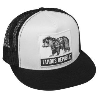 Cap FAMOUS STARS & STRAPS - FAMOUS REPUBLIC - BLACK WHITE, FAMOUS STARS & STRAPS