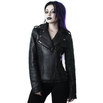 leather jacket women's - Graveyard Shift Biker - KILLSTAR, KILLSTAR