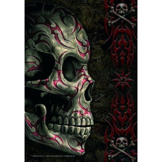 Flag Spiral - Tatoo Skull - HFL0701