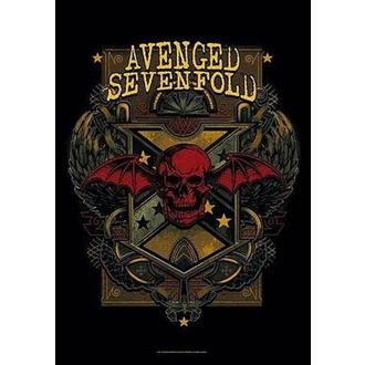 Flag Avenged Sevenfold - Death Crest, HEART ROCK, Avenged Sevenfold