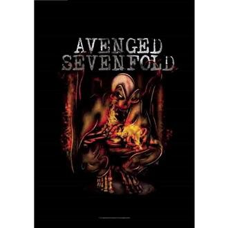 Flag Avenged Sevenfold - Fire Bat, HEART ROCK, Avenged Sevenfold