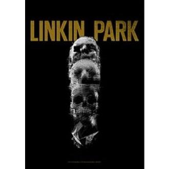 Flag Linkin Park - Living - Skull Totem, HEART ROCK, Linkin Park