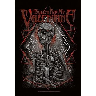 Flag Bullet For my Valentine - Skeleton, HEART ROCK, Bullet For my Valentine