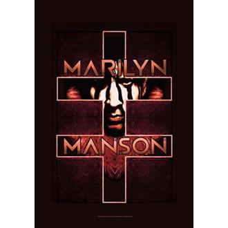 Flag Marilyn Manson - Double Cross, HEART ROCK, Marilyn Manson