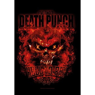Flag Five Finger Death Punch - Hell to Pay, HEART ROCK, Five Finger Death Punch